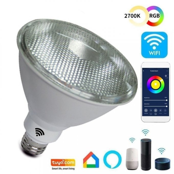 Ampoule PAR 12W SMART Wifi RGB+CCT LED - Dimmable - E27