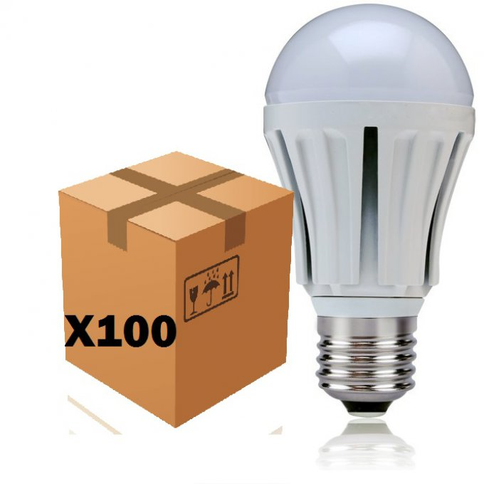 Lot de 100 ampoules led E27 12w
