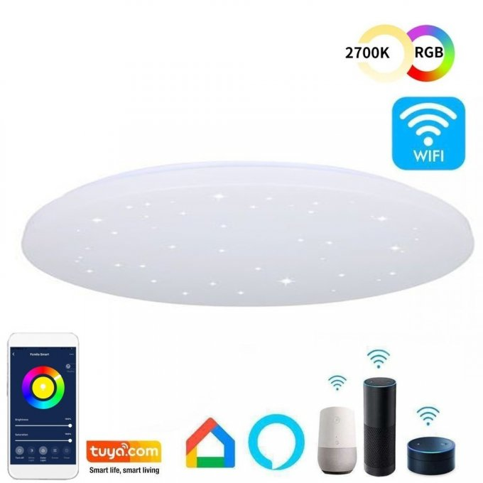 Plafonnier à LED 18W WiFi SMART RGB+CCT - Dimmable
